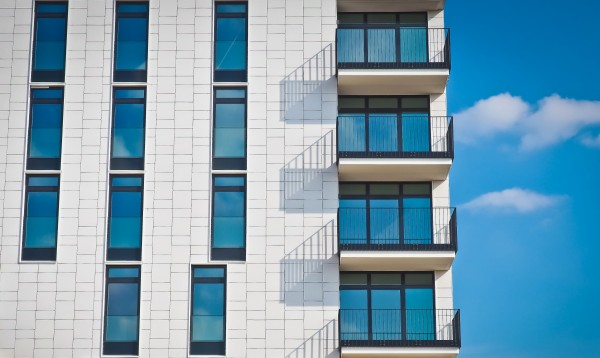 Apartments with blue sky